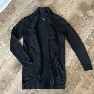 Black knit cardigan NWOT